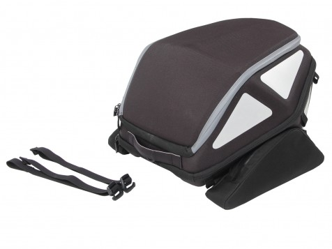 Royster rearbag with strap attachment - black