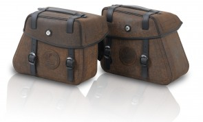 Saddlebags Rugged Cutout 14 ltr. incl. quick release - brown