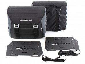 Sidebags Xtravel Basic incl. 2x universal holding plates for side carrier