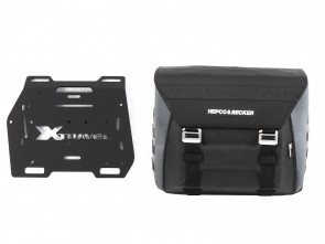 Sidebag Xtravel Basic (single bag) left side incl. 1x universal holding plate for side carrier