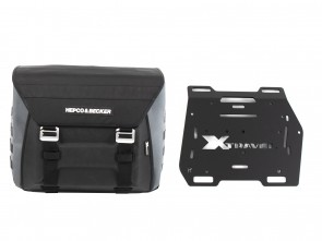Sidebag Xtravel Basic (single bag) right side incl. 1x universal holding plate for side carrier