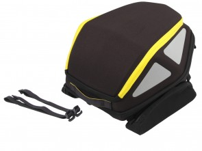 Royster rearbag with strap attachment - black / yellow