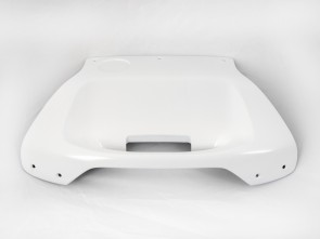 Painted panel white for Hepco&Becker Journey 42 sidecase and topcase