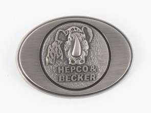 Metal logo for Hepco&Becker leather bags Liberty/Nevada/Buffalo/Ivory/Rugged