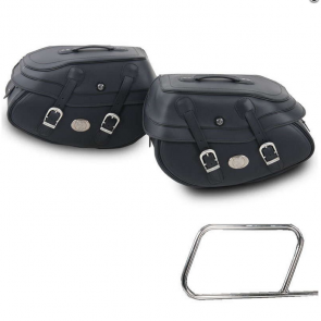 Saddle bag set Buffalo Big black for tube saddlebag carrier