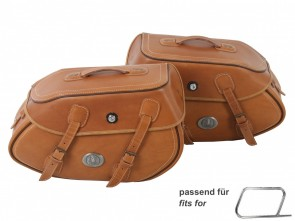 Saddle bag set Buffalo sandbrown for tube saddlebag carrier